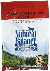 Natural Balance Limited Ingredient Diets Sweet Potato & Fish Formula Dry Dog Food – 4.5 lb