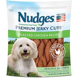 Nudges Wholesome Dog Treats, Premium Jerky Cuts, Roasted Chicken Recipe, 18 Ounce