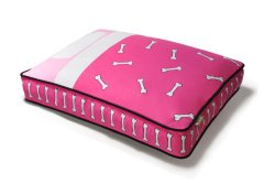 P.L.A.Y. Rectangular Bed with Eco-Friendly Filler and 100-Percent Cotton Cover, Pink/Tuck Me In