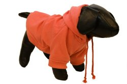 Pet Life Fashion Ultra-Soft Cotton Pet Dog Hooded Sweater, Small, Fresh Orange