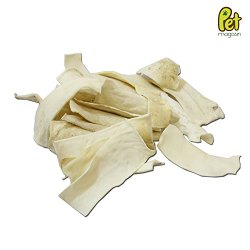 Pet Magasin Rawhide Chips for Dogs – Natural Beef Rawhide Chews, 1 Pound Bag – Made in USA