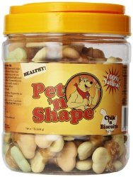 Pet 'n Shape Chik 'n Biscuits Natural Dog Treats, 1-Pound Tub