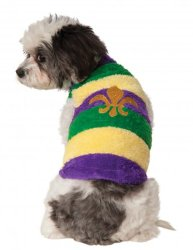 Rubies Costume Company Mardi Gras Soft Pet Sweater, Large