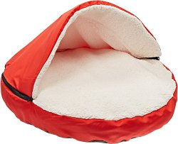 Sofantex Sofantex Plush Pet Cave Bed for Cats and Small to Medium Size Dogs, Red, 30 Inch