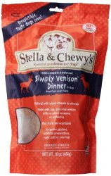 Stella & Chewy's Freeze Dried Dog Food for Adult Dogs, Venison Dinner, 15-Ounce Bag