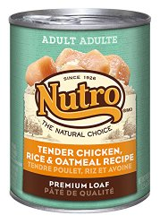 The Nutro Company Adult Dog Food Can with Chicken, Rice and Oatmeal Formula, 12.5-Ounce, Pack of 12