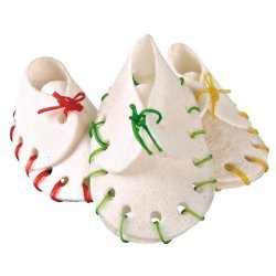 Trixie Denta Fun Dog Snack Chewing Shoes, Rawhide, For Puppies/Small Dogs, 10 Pcs