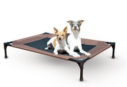 Waterproof Outdoor Dog Bed Cot with Elevated/Raised Mesh Design (Large – 30″L x 42″W x 7″H)