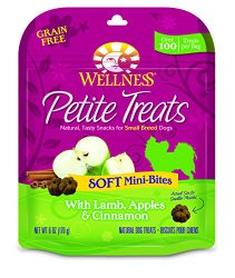 Wellness Petite Treats Small Breed Grain Free Lamb & Apples Natural Soft Dog Treats, 6-Ounce Bag