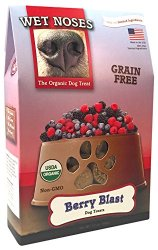 Wet Noses Organic USA Made All Natural Dog Treats, Berry Blast (Grain-Free), 1 pack
