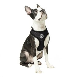 Gooby Soft Mesh Harness for Small Dogs, Medium, Black