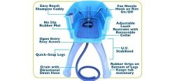 Booster Bath 3040 Blue Large Dog Wash
