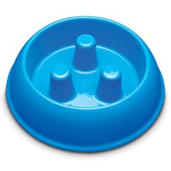 Brake-Fast Dog Food Slow Feed Bowl – Medium Blue