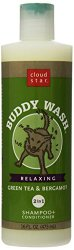Cloud Star Buddy Wash Dog Shampoo and Conditioner Green Tea and Bergamot, 16-Ounce Bottles (Pack of 2)