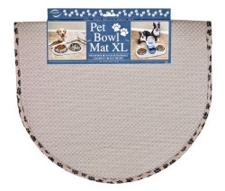 Envision Home 413000 Microfiber Pet Bowl/Food Mat, X-Large, Taupe