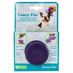 Evriholder Fancy Fur Soap Dispensing Rubber Dog Groomer