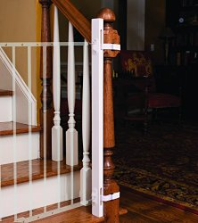 EZ-Fit Baby Safety Gate Adapter Kit – Protect Banisters and Walls – ONLY Includes (1) one adapter side