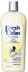 Fresh'n Clean Pet 2-in-1 Oatmeal and Baking Soda Formula Conditioning Shampoo, 18-Ounce