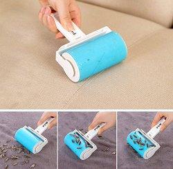 iLifeTech Reusable Sticky Picker Set Cleaner Lint Roller Pet Hair Remover Brush (Blue)