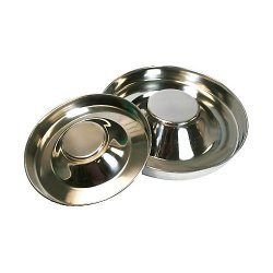 Leather Brothers Stainless Steel Puppy Feeding Saucer, 15-Inch