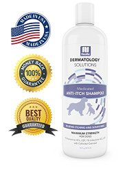Medicated Oatmeal Dog Shampoo Anti-ITCH Maximum Strength Formulation With 1% Lidocaine HCL 1% Pramoxine HCL and Colloidal Oatmeal