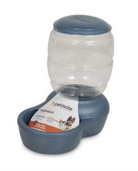 Petmate Replenish Pet Gravity Feeder with Microban, 2-Pound Capacity, Pearl Peacock Blue