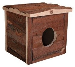Trixie Pet Products Jerrik Natural Wood House Small