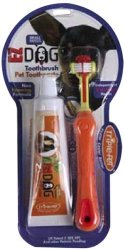 Triple Pet Ezdog Toothbrush Kit for Small Breeds, Colors May Vary
