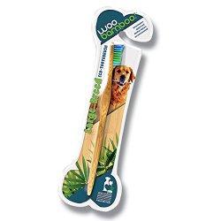 WooBamboo Large Breed Bamboo Pet Toothbrush