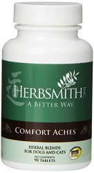 Herbsmith  Comfort Aches, Herbal Supplement for Dogs and Cats, 90-Tablets