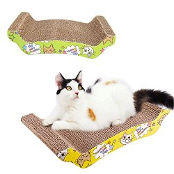 Arch Corrugated Cardboard Cat Toy Scratcher with Catnip Bed Pad Durable Pet Bed Kitty