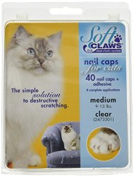 Soft Claws for Cats – CLS (Cleat Lock System), Size Medium, Color Clear