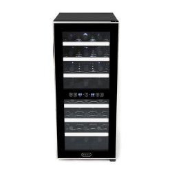 Whynter WC-241DS 24 Bottle Dual Zone Touch Control Wine Cooler, Black with Stainless Steel Trim
