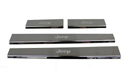 Genuine Jeep Accessories 82210678AB Stainless Steel Door Sill Guard