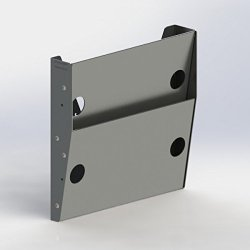 """Ranger design. 2-Slot Paper Holder, aluminum, regular depth, 2?""""d X 12?""""w X 12″h"""