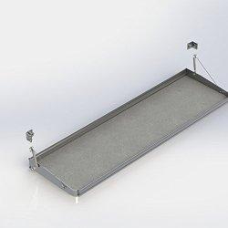 Ranger Design.Fold-Away shelf tray with gas shocks and hardware, 21″d x 72″w