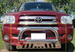 APS BB-TAK025S Chrome Bull Bar Bolt Over for select Toyota Tundra Models