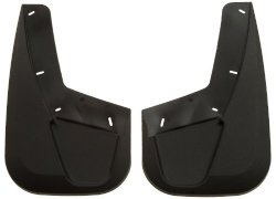 Husky Liners Custom Fit Molded Thermoplastic Front Mudguard for Select Cadillac/Chevrolet/Ford/GMC Models – Pack of 2 (Black)