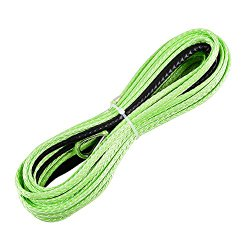 3/16″ x 50ft Green Synthetic Winch Rope Line Cable 5400LBs+ with Sheath Thimble ATV UTV Truck Boat Pick-up Truck