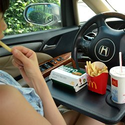 Zone Tech Car Laptop and Food Steering Wheel Tray (Black)
