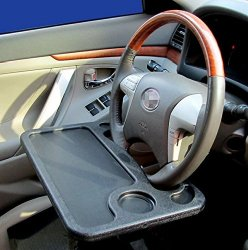 Zone Tech Car Laptop and Food Steering Wheel Tray (gray)