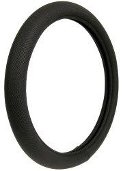 Custom Accessories 38451 Black Memory Foam Soft Grip Steering Wheel Cover