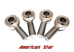 American Star 4130 Chromoly 1/2 Inch XMR8 Rod Ends / Heim Joints (Set of 4)