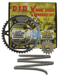 D.I.D (DKH-010) 520VX2 Steel Chain and 14 Front/38 Rear Tooth Sprocket Kit