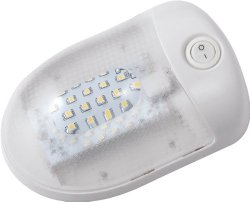 Gold Stars F3528001 Natural White LED Dome Light (Fixture Single 921 Wedge 150 Lumens 12v)