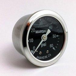 Marshall Instruments MS00060 Liquid Filled Oil Pressure Gauge