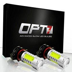 OPT7® 5202 Nova Plasma LED Fog Light Bulbs – 10000K Deep Blue – Plug-n-Play (Pack of 2)