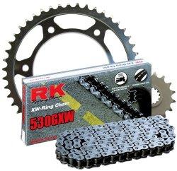 RK Racing Chain 3125-950W Steel Rear Sprocket and 530GXW Chain 20,000 Mile Warranty Kit