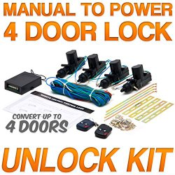 Universal Central Door Lock and Unlock Conversion Kit for 2, 3, 4 car truck doors 4 actuators