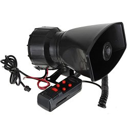 Yosa 2015 New 12V Loud Horn Siren For Car Speaker 5 Sounds Tone PA System 60W Motorcycle Auto Vehicle Truck Max 300db car Alarm horn